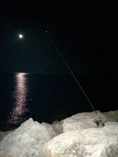 Solitud oscura Night Nightphotography Night Lights Nightlife Night Photography Fishing Sea Mediterranean  Water_collection Water