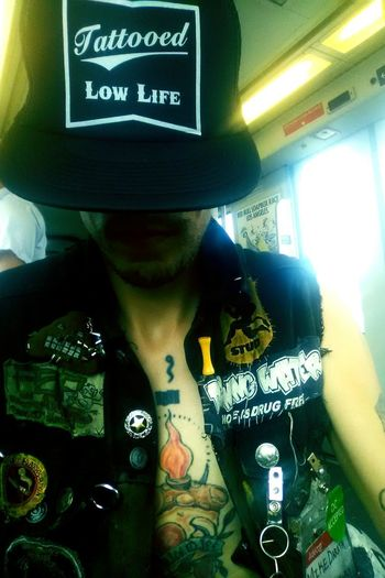 Hat Close-up Train EyeEmNewHere Punkrock Tattooed Lowlife Tattoos Millerhighlife Punk Style Punk Rock Deth Kids Punk Punks Punker Punklife Fuckitdoglife'sarisk Dethkids Fidlar Casual Clothing Public Transportation Ggallin Punkrocktillirot Punks Not Dead Punkrocker Skate Investing In Quality Of Life