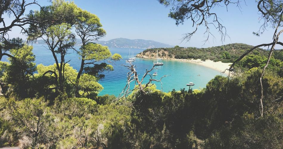 Greece Skiathos Island Happy Summer Beach