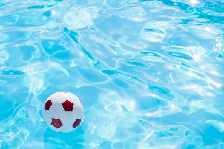 Ball Day High Angle View No People Outdoors Soccer Sport Swimming Pool Water