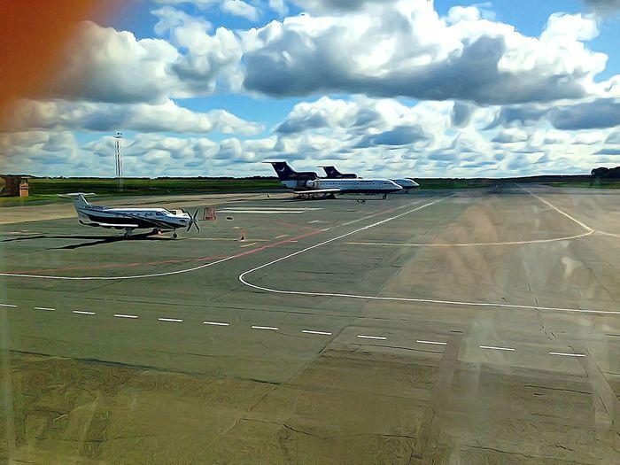 Plane Sky Airport City