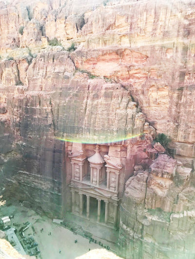 Rock formations in a building