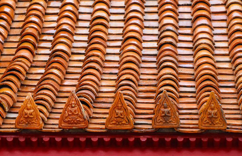 Roof of buddhist temple