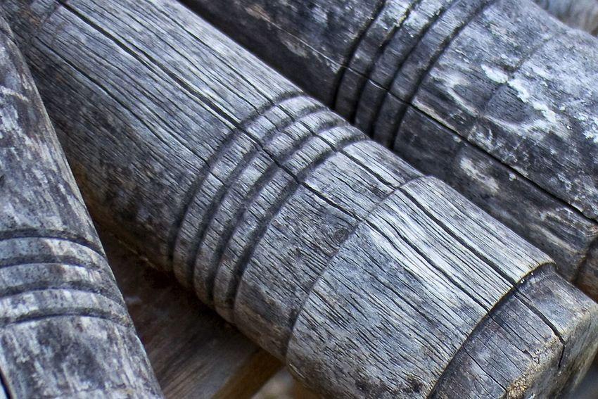 Pattern Pieces Wood Wooden Mallets Croquet Old Antique