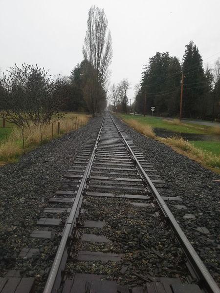 Railroad tracks in front of Hanowel Being Adventurous Praising The Lordl Homestead