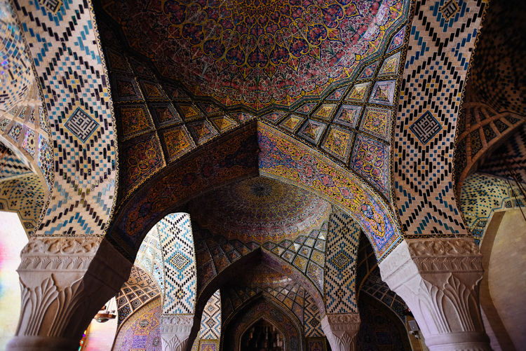 Nasir Al Molk mosque in Shiraz Famous Nasir Al-Mulk Mosque Shīrāz Tourist Attraction  Traveling Architectural Column Architecture Art And Craft Design Famous Place Floral Pattern Indoors  Iran Islam Mosque Ornate Place Of Worship Religion Shiraz, Iran Tourism Tourism Destination Travel Destinations