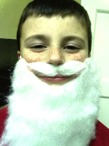 Love My Boy Beardntach Santa