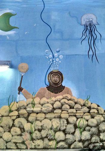 Sponge Docks, Tarpon Springs, Fl Travel Photography Travel Travel Destinations Mural Sponge Diver Art Water Sky #urbanana: The Urban Playground Summer In The City