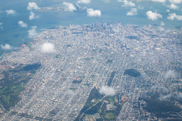 San Francisco Bay Areials SanFranciscoBay Aerial View Architecture Building Exterior Built Structure City Cityscape Day No People Outdoors Sanfrancisco Sky