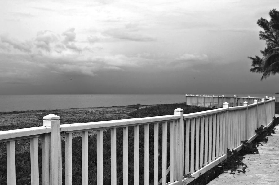 Landscapes With WhiteWall Seascape Sea And Sky Cloudy Clouds And Sky Leading Lines Seaside Promenade Caribbean Sea Sea Greatness Storm Clouds Black And White Cuba