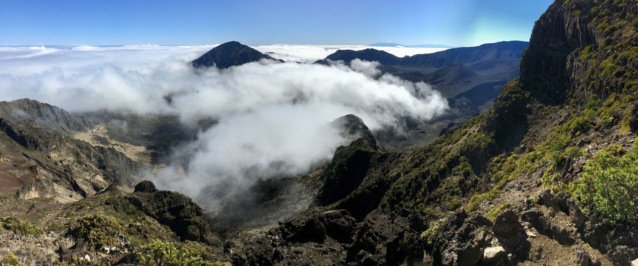 Clear Sky Haleakala Hawaii Sacred Places Volcano Crater Above The Clouds Amazing Nature Beauty In Nature Geology Landscape Nature Outdoors Physical Geography Power In Nature Sacred Scenics Spiritual Tranquil Scene Tranquility View From Above Volcanic Landscape Volcano EyeEmNewHere