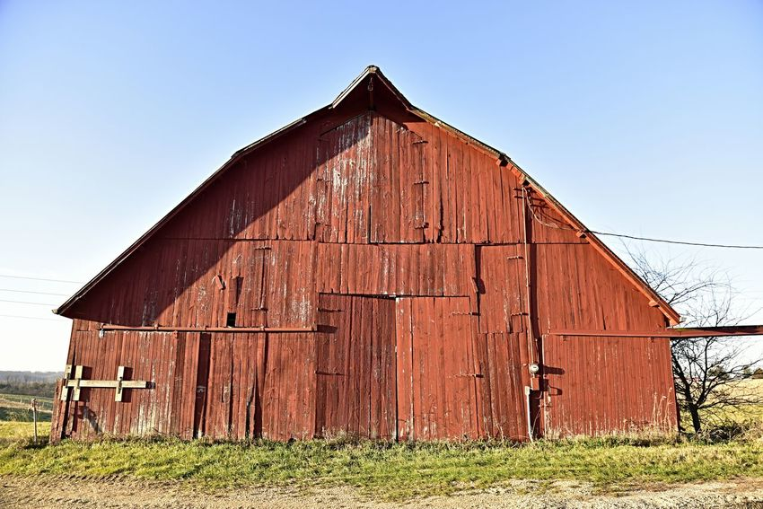 Red barn Barn Architecture House Wood - Material Built Structure Building Exterior Outdoors Agriculture No People Day Sky Farm Life Rural Scene Agriculture Agricultural Land Room For Copy Bradley Olson Bradleywarren Photography Galena, Illinois Beauty In Nature Illinois Countryside Looking Into The Future The Way Foward Landscape