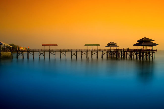 INDONESIA Landscape_Collection Long Exposure Shot Sunrise_Collection Surabaya Waterscape Beach Beauty In Nature Blue Clear Sky Horizon Over Water Landscape Landscape_photography Long Exposure Long Exposure Photography Nature Orange Color Outdoors Sea Sky Slow Shutter Slow Shutter Speed Sunrise Sunrise_sunsets_aroundworld Water