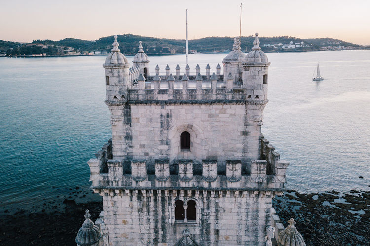Belém Drone  Torre De Belém Travel Architecture Beauty In Nature Belem Tower Building Exterior Built Structure Day Drohne Dronephotography Droneshot History Lisboa Lisbon Lissabon Luftaufnahme Nature Nautical Vessel No People Outdoors Scenics Sea Sky Tourism Transportation Travel Travel Destinations Water