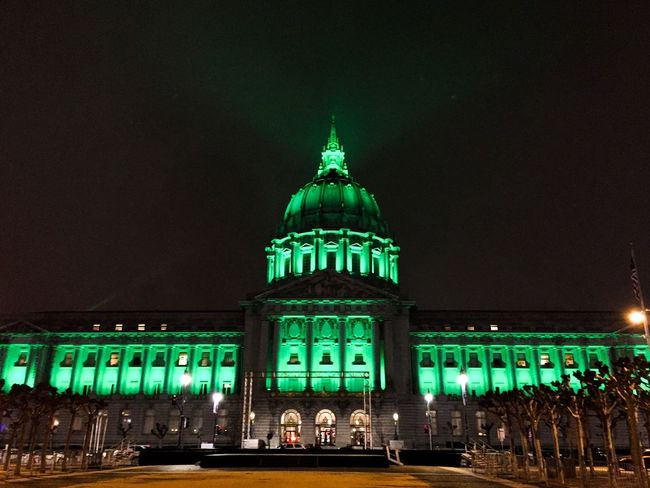 EyeEmNewHere Architecture Building Exterior Illuminated Night Built Structure City Travel Destinations Travel Marina Wainwright Green Color Youtubemarketing Your Photo For Social Change By PhotoPhilanthropy Sky Façade Outdoors Dome No People EyeEmNewHere San Francisco Bay San Francisco Night Photos Trending On EyeEm San Francisco City Hall Top Perspective EyeEmNewHere