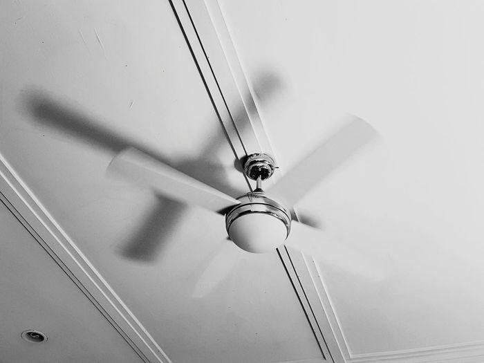 Ceiling fan in a stark way.