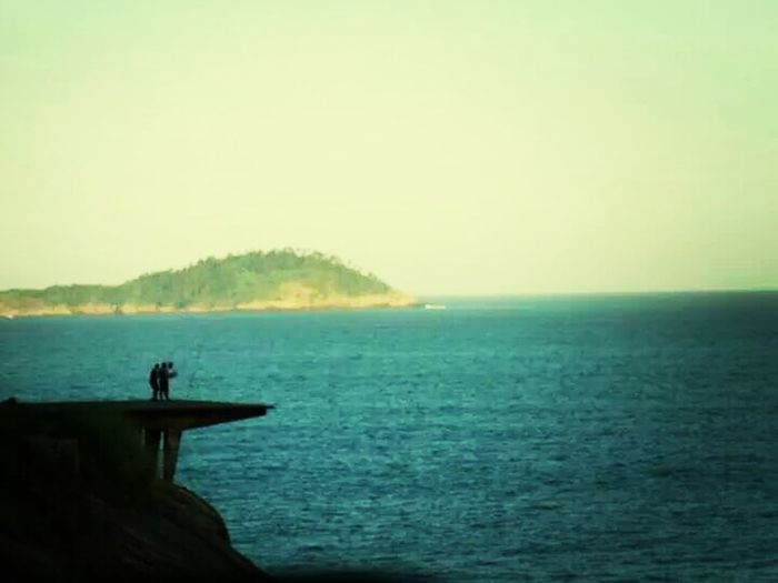 Blue Ocean Pier Natural Beauty Rio De Janeiro
