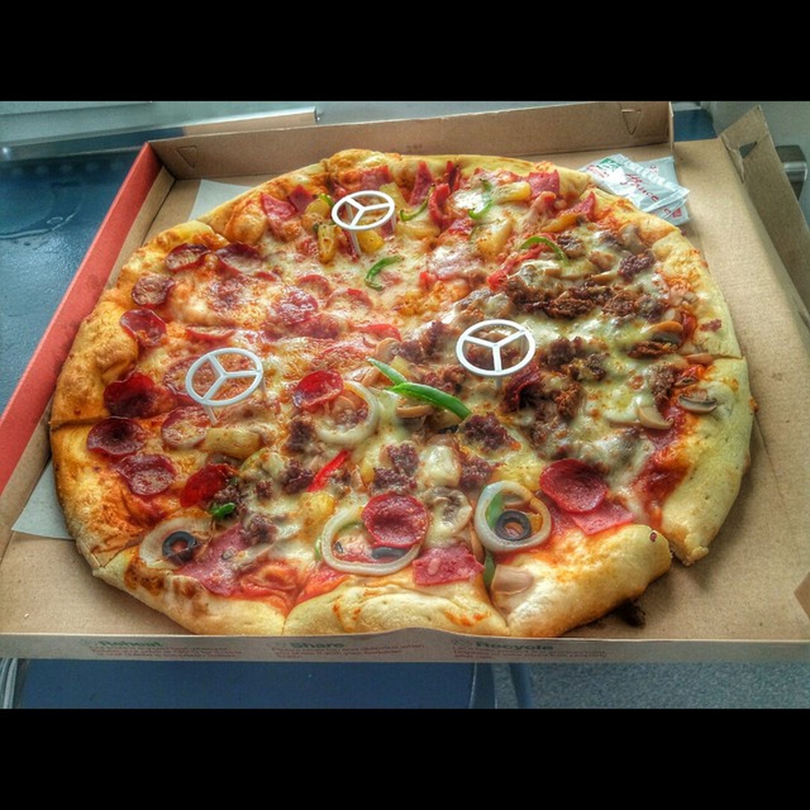 food, food and drink, indoors, ready-to-eat, freshness, still life, pizza, plate, unhealthy eating, table, meal, indulgence, high angle view, close-up, meat, serving size, slice, cheese, temptation
