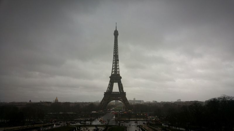 Eiffel Tower Eiffel Tower Eiffeltower Eiffel Paris Solumn Moody Winter Rain Cloudy Eiffel Tower Outdoors City Cityscape No People Day History