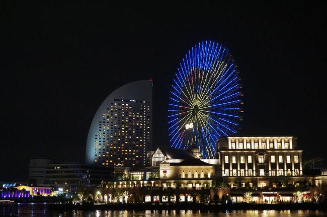 2017 Japan Pokemon Go Pokémon Yokohama Architecture Building Exterior Built Structure City Events Ferris Wheel Illuminated Night Outdoors Pikachu Sky ピカチュウ ポケモン ポケモンGO 観覧車