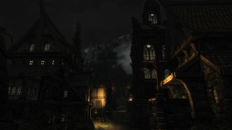 The beauty of Solitude at night. Night No People Architecture Roleplay XboxOne Gaming No Edit, No Filter, Just Photography Skyrim Nordic Architecture EyeEmNewHere