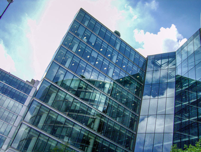 Architecture Architecture Architektur Architettura Building Exterior Built Structure City Day England Gran Bretagna Great Britain Großbritannien Inghilterra Low Angle View Modern No People Office Block Office Building Exterior Outdoors Reflection Sky Skyscraper Travel Destinations