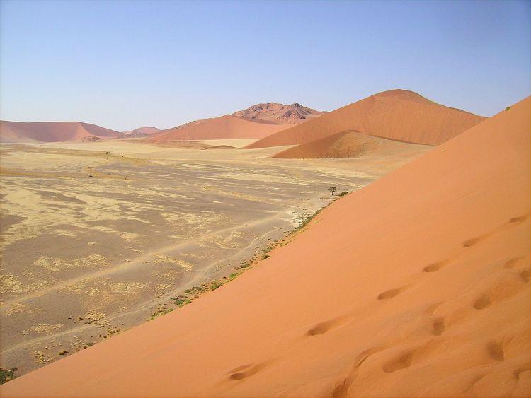 Arid Arid Climate Arid Landscape Desert Deserts Around The World Exploring Extreme Terrain FootPrint Namibia Sand Sand Dune Sossusvlei Landscapes With WhiteWall 43 Golden Moments
