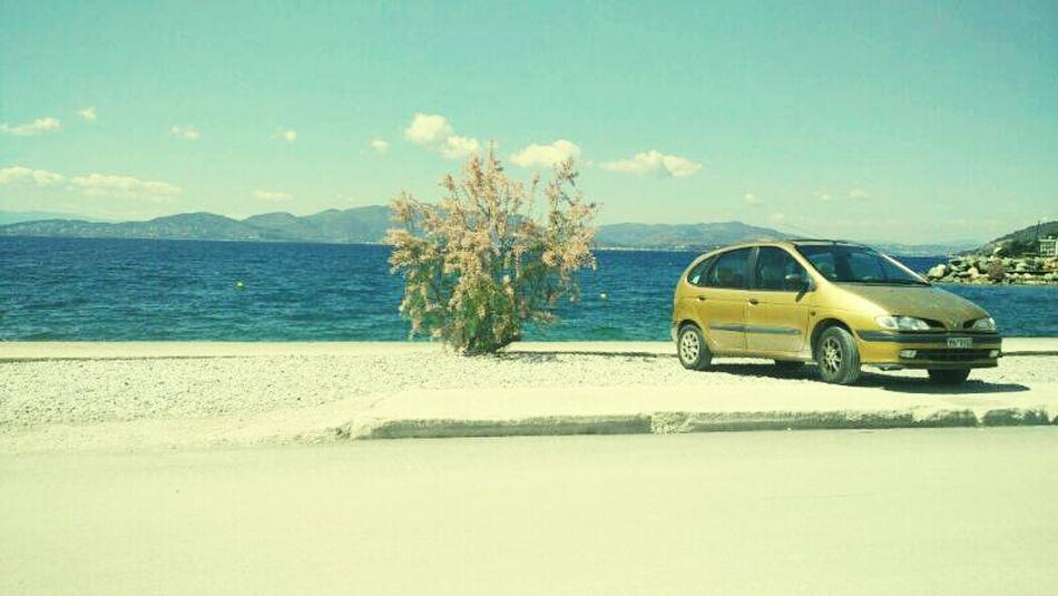 Greece Car Sea Landscape Smallframe PhonePhotography