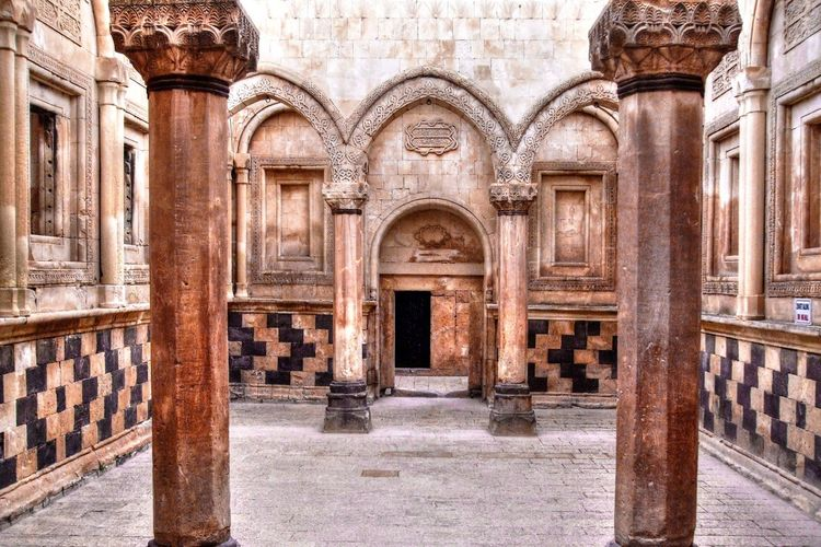 Arch Architectural Column Architecture Building Exterior Built Structure Day History Ishak Pasha Palace No People Outdoors Turkey