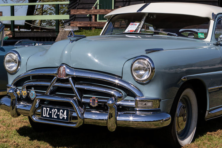 Classic American Car Pictures taken at Cars Bikes and Stripes in Waarland, The Netherlands / Rock n Roll Festival American Car Cars Chrome Classic Classic Car Detail Details Rock N Roll Transport Transportation USA Vehicle Vintage Vintage Cars