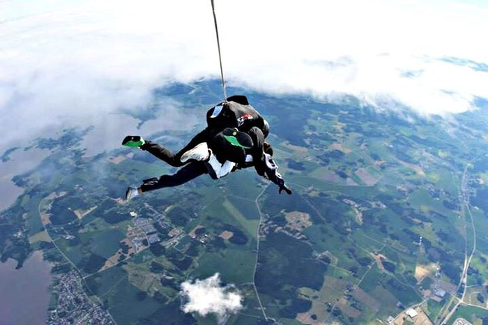 Seeing the world from above Skydive Sweden Amazing Enjoying Life