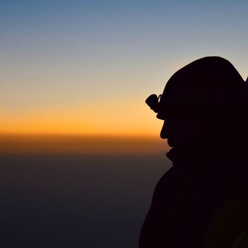 Darjeeling Silhouette Young Adult Travel Destinations Outdoors Sky Morning Sunrise