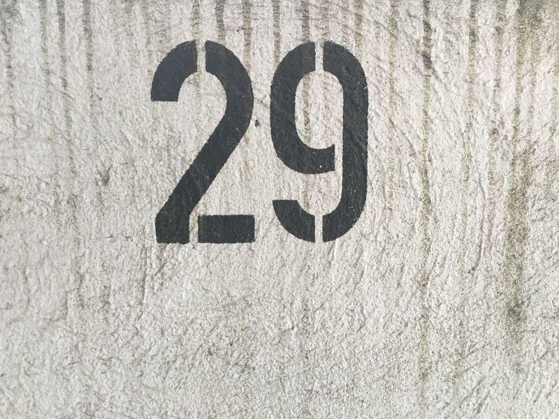 Parkhaus Streetart Parking Garage Zahl Number Beton 1-100