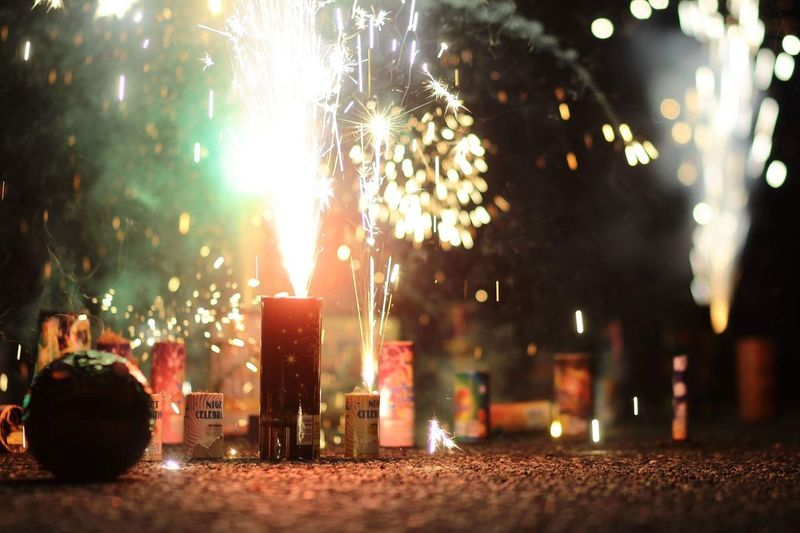 We Sparked More Night Illuminated Fireworks No People Celebration Outdoors Sky
