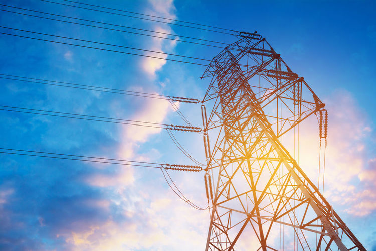 Architecture Blue Built Structure Cable Cloud - Sky Complexity Connection Day Electrical Component Electrical Equipment Electricity  Electricity Pylon Fuel And Power Generation Global Communications Low Angle View Metal Nature No People Outdoors Power Line  Power Supply Sky Steel Tall - High Technology