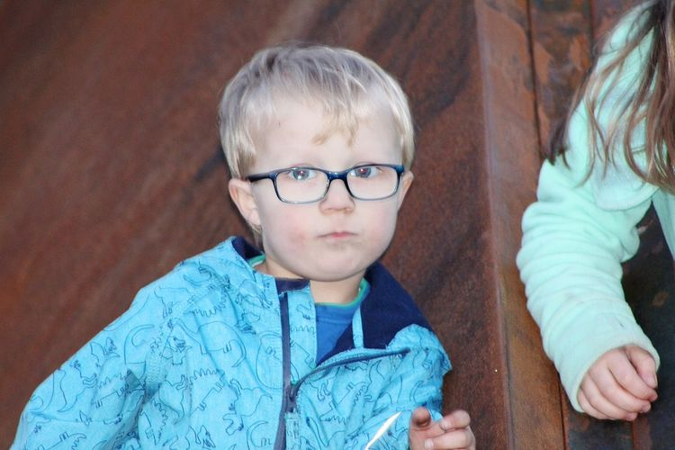 Blond Hair Child Eyeglasses  Childhood Portrait Togetherness Human Hand Boys