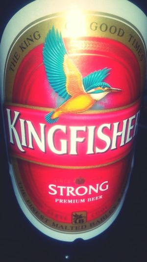 KingFisher Strong. Its a party time First Eyeem Photo Kingfisher Party Time Strong Beer