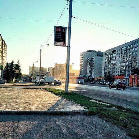 Улица в моем городе. The street in my town. Town Street улица город Закат Sunset вечер Evening