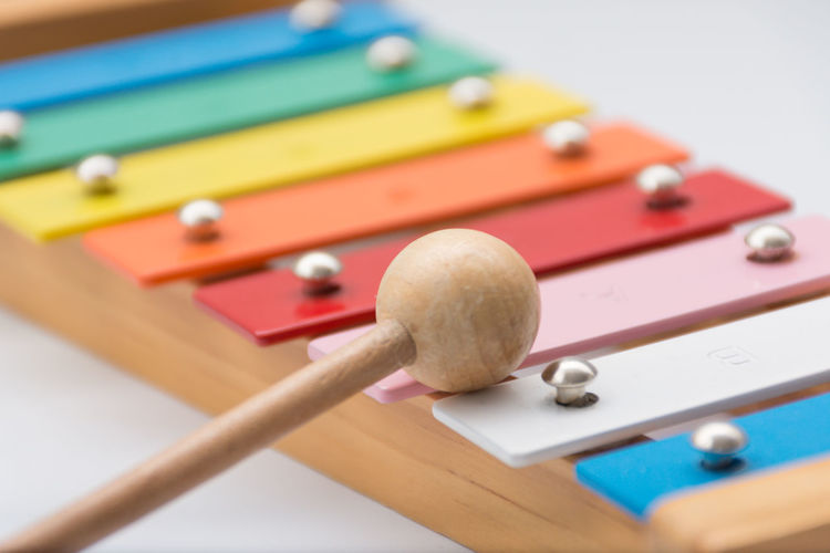 Xylophone and mallet Music Close-up Colorful Mallet Mallet Instrument Multi Colored Musical Instrument No People Percussion Selective Focus Toy Wood - Material