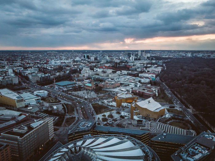 Berlin Mitte Cloudy Sky DJI X Eyeem From Above  Storm Weather Aerial View Architecture Atmospheric Mood Built Structure City Cityscape Cloud - Sky Day Dronephotography Dusk High Angle View Horizon No People Residential District Sunrise Sunset