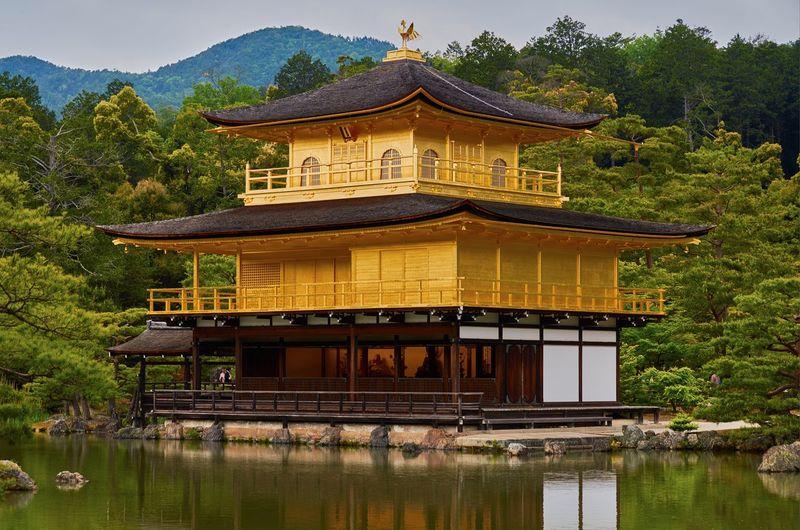 Kinkaku-ji by lake