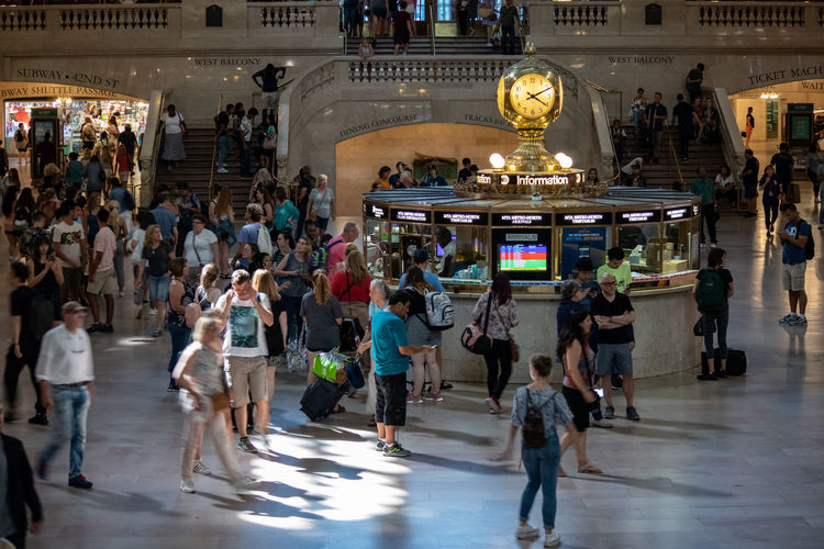 Grand Central Station Adult Architecture Building Exterior Built Structure City City Life Crowd Group Of People Illuminated Large Group Of People Lifestyles Men Motion Outdoors Real People Street Tourism Travel Travel Destinations Women