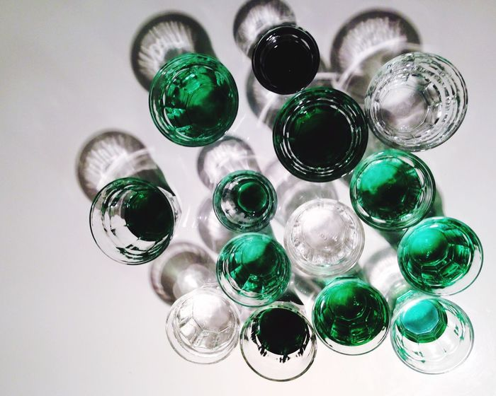 Mint By Motorola Composition Glasses Greens Syrup Water Light And Shadow Abstraction Menthe à L'eau Menthe