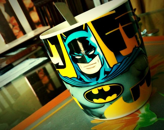 Love ♥ Batman!! Breakfast time!!