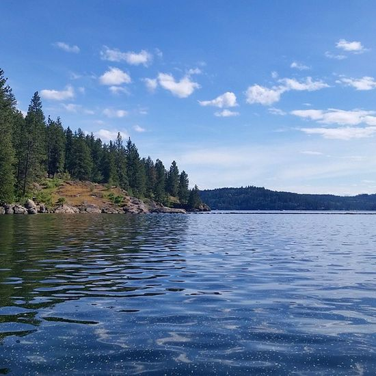 Nice to come home to blue skies and the sun out. Northwest Upperleftusa LakeCoeurdalene Enjoythelittlethings