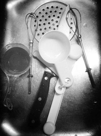 Wake And Bake Dirty Dishes Black & White Food Porn