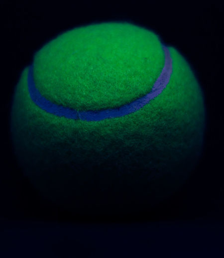 Astronomy Ball Black Background Black Background Close-up Day Freshness Green Color Half Ball Indoors  No People Space Sport Studio Shot Tennis Tennis Ball