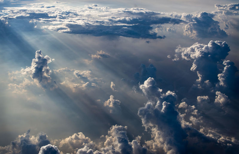 High angle view of scenic sky