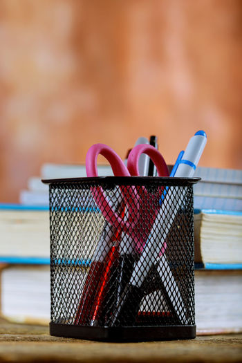 School supplies and books education on wooden table Back To School Book Education Equipment Notebook Paper Pencil Pencil Drawing School School Supplies Supplies Supplies Office Tools