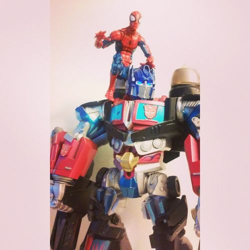 Spidey and optimus search for decipticons Transformers Spiderman Spidey Marvel Marvellegends Hasbro Disney Optimusprime Manchild Figurelife Figurecollecting Infinitieseries Figureoftheday Amazingspiderman Spiderblood Peterparker Autobots Superheros Collector Webhead Heros